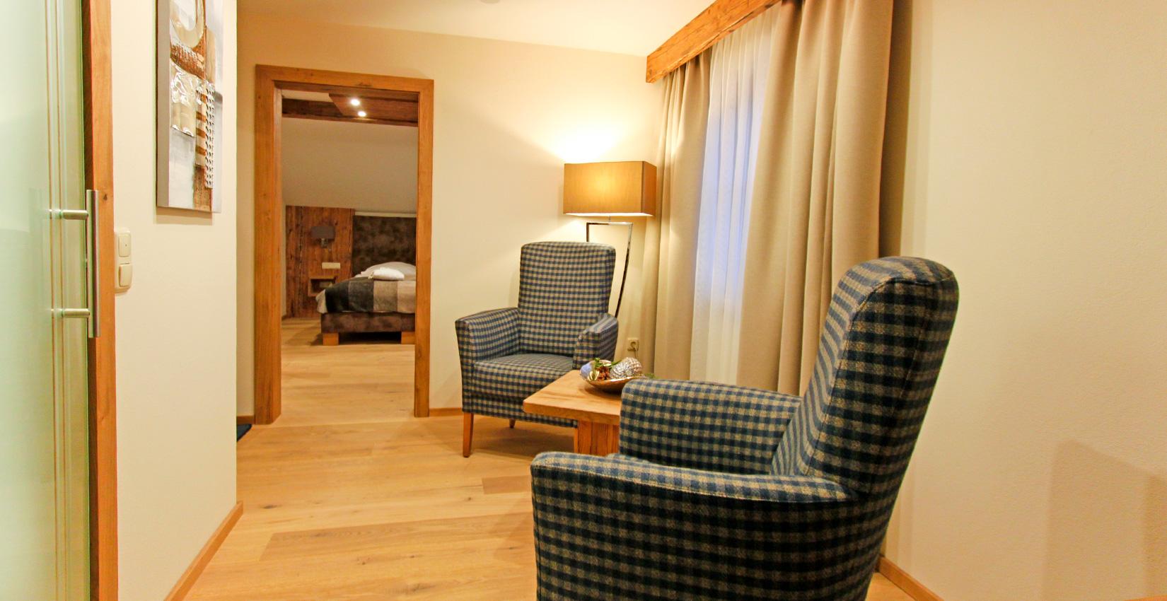 Ferienappartements Bergknappenhof Kategorie 12 Wohnzimmer